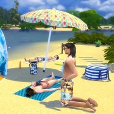 [Fiche] Emmener vos Sims et leur matériel à la plage grâce à trois mods: Beach mod, Life is a Beach Mod, Packing Crate Mod